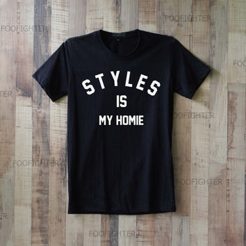 Styles is My Homie Shirt Harry Styles T Shirt Top Tee Unisex  – Size S M L XL XXL