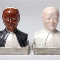Pope Salt and Pepper Shakers- Multicultural-Ceramic-Rejoice