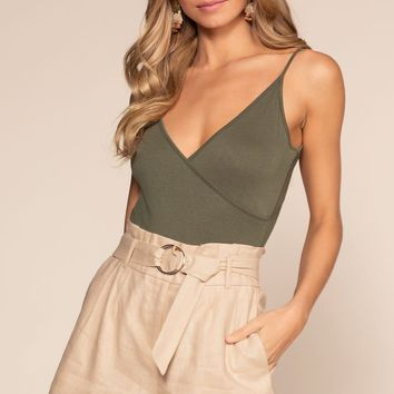 Carousel Paper Bag Shorts - Taupe