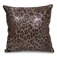 Cat's Meow Printed Sequin Pillow