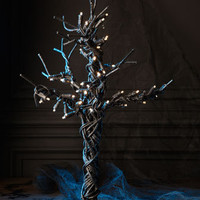 Lighted Halloween Glitter Tree - Horchow