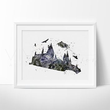 Dementor 3, Harry Potter Watercolor Art Print