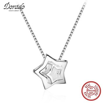 Dorado 2017 New Fashion Big and Little Stars Pendant Necklace for Lovers' Gift Party & 925 Real Sterling Silver