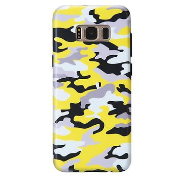 Yellow Camo Samsung Galaxy Case