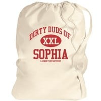Dirty duds of Sophia laundry bag: Global