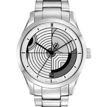 Bulova 96A130 Men's Hoffman House Design Dial Stainless Steel Quartz Watch