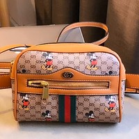 GUCCI x DISNEY Women's Graffiti Shoulder Bag Crossbody Bag