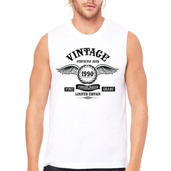 Vintage Perfectly Aged 1990 Muscle Tank