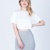 Rib Knit Bodycon Skirt