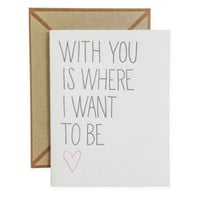 With You Card