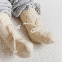 BABY SOCKS Knit  Wool socks off white natural wool socks Hand knitted baby socks