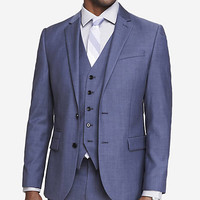 BLUE WOOL TWILL PHOTOGRAPHER SUIT JACKET from EXPRESS