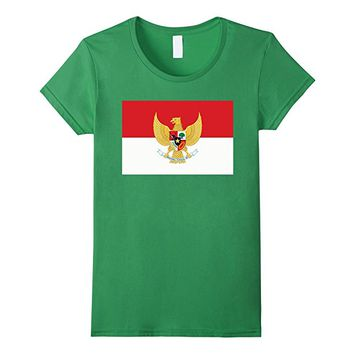 Indonesian Flag T-Shirt with Crest Emblem insert