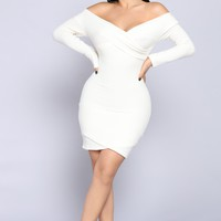 Depend On Me Sweater Dress - Ivory