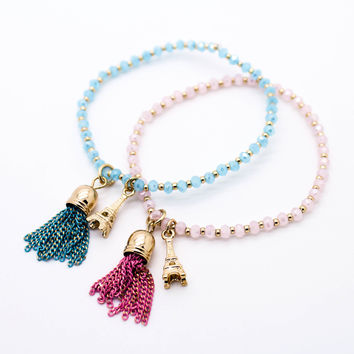 Eiffel Tower beads bracelet