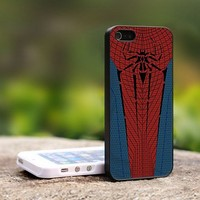 Spiderman Costume Design - For iPhone 4,4S Black Case Cover