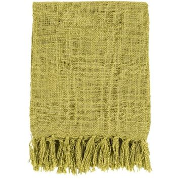 Belize Lime Green Throw Blanket