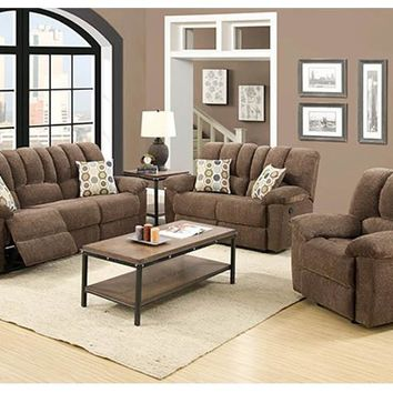 UMC22L-JW Jasmine Walnut Double Reclining Loveseat