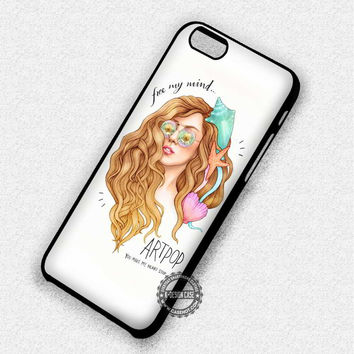 Drawing Of Her Mermaid Lady Gaga Music Art - iPhone 7 6 5 SE Cases & Covers