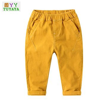 Fashion Baby Clothing 2-6years Baby Boys Soft Jeans Trousers Kids Jeans Casual Pants Spring Autumn Baby Jeans Trousers Denim
