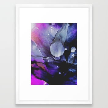 A Violet Gaze Framed Art Print by duckyb