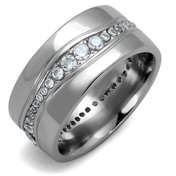 Tyrone Silver Studded Men's Ring