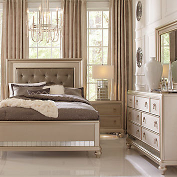 Sofia Vergara Paris Champagne 5 Pc Queen Bedroom