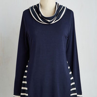 Nautical Mid-length Long Sleeve Leisurely Achieving Top