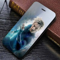 Avengers Age Of Ultron Aaron Taylor Johnson Quicksilver Wallet for iPhone 4 / 4s / 5 / 5s / 5c / 6 / 6 plus / 7 Samsung Galaxy s3 / s4 / s5 / s6 / s7 Case