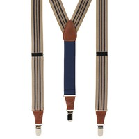 Wembley Striped Stretch Suspenders - Men, Size: One Size (Green)