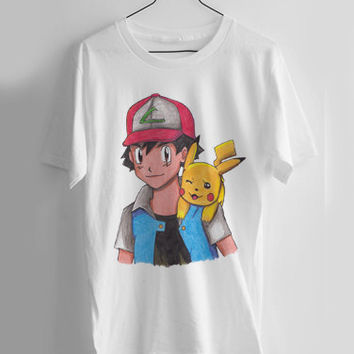 Ash and Pikachu T-shirt Men, Women, Youth and Toddler
