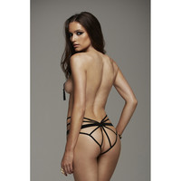Butterfly Crotchless Cage Panty