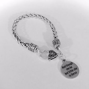 And Though She Be But Little She Is Fierce Shakespeare Gift Charm Bracelet