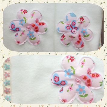 Baby girl nursery set pink flower bunting pink flower fleecy pram blanket pink flower broderie anglais quilt baby shower nursery set
