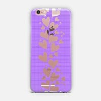 Purple Plaid Hearts iPhone Case