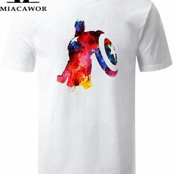Moe Cerf Men T Shirt Captain America Civil War Tee 3d Printed T Shirts Men Marvel Avengers 3 Iron Man Clothing Male Tops