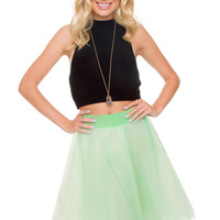 Karlie Tulle Skirt - Mint