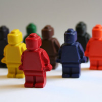 LEGO Minifigure Mini Crayons - Set of 8 - Great for a LEGO or Star Wars Party