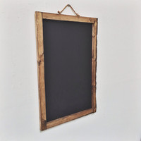 Large rustic wooden chalkboard frame 30x20""
