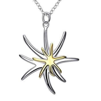Separation Dichroic Starfish Pendant Necklace