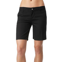 "Dickies Girl - 8"" Bull Tomboy Black Juniors Shorts"
