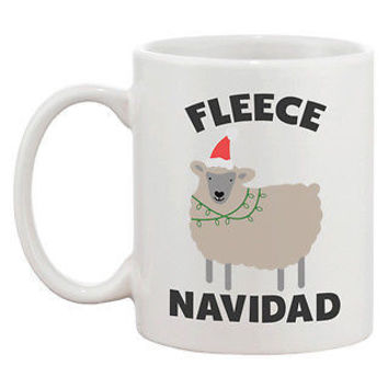 Fleece Navidad Cute Holiday 11oz Coffee Mug Cup- Funny Christmas Gift Idea