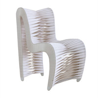 Seat Belt Dining Chair, White - Contemporary - Dining Chairs - by Phillips Collection