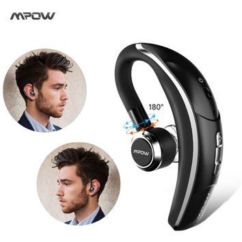 Original Mpow wireless Single Car headphone Portable Handsfree bluetooth 4.1 180 Rotation Earbuds Earphones with Microphone