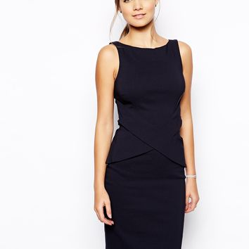 Vesper Kirsty Pencil Dress with Cross Front