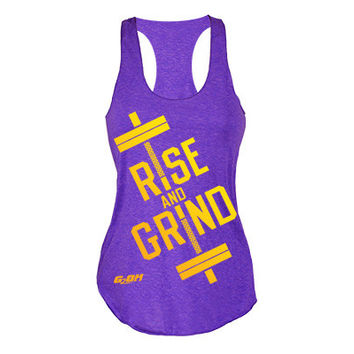 Rise and Grind Women's Workout tank tops from G2OH