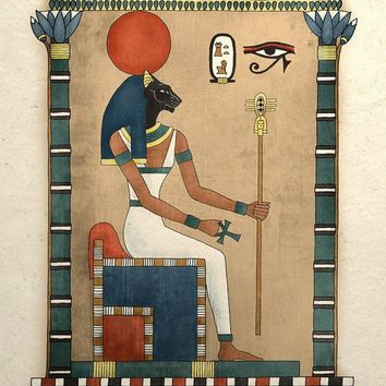 Ancient Egyptian Goddess Bastet Art Print by TigerHouseArt on Etsy