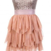Sequin Strapless Dress