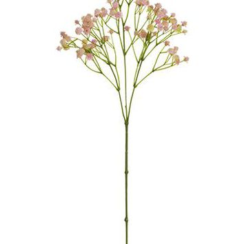 "Pink Artificial Gypsophila - 25.5"" Tall"
