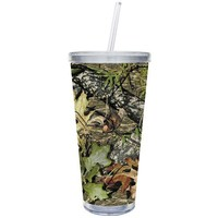 Cypress Home 20-Ounce Insulated Cup With Lid and Straw, Camouflage
